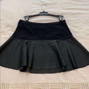 Express black/ pleather mini skirt. Size 2